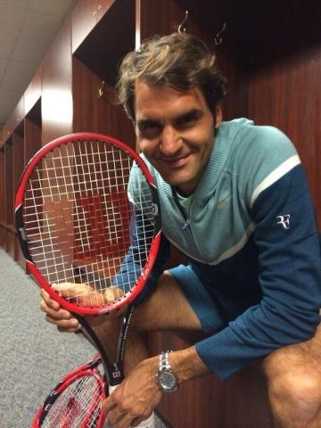 Roger Federer cây vợt wilson Pro staff mới 2014