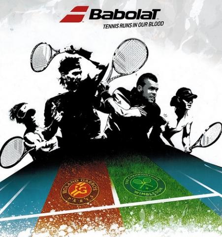 sản phẩm BABOLAT tại ROLAND GARROS & WIMBLEDON 2014