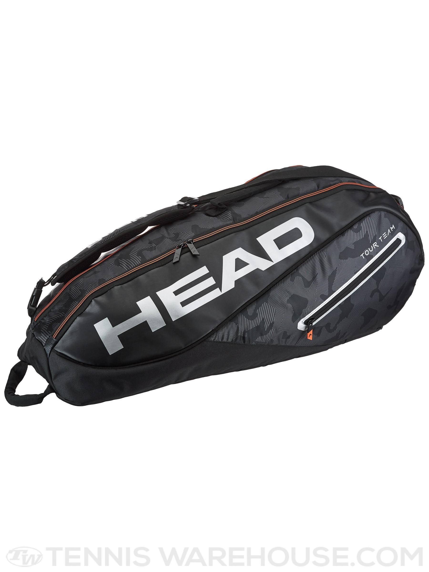 Túi Tennis Head Tour Team 6R Combi Bag 2018 Black/Silver (283128BKSL)