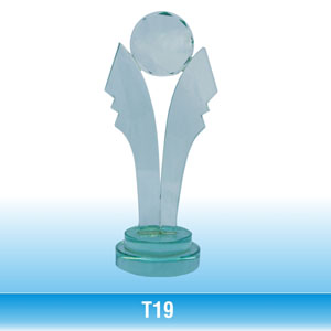 Cúp thủy tinh - T19
