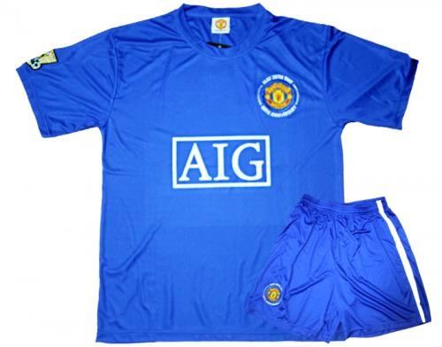 Bộ quần áo bóng đá Mu xanh