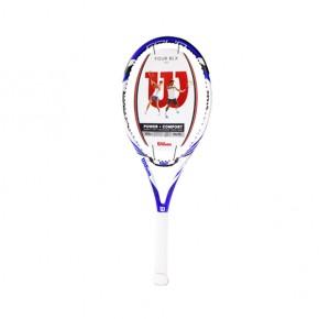 Vợt Tennis Wilson Four LBX WRT7264102 được thiết kế với kích thước đầu vợt là 105 inch.